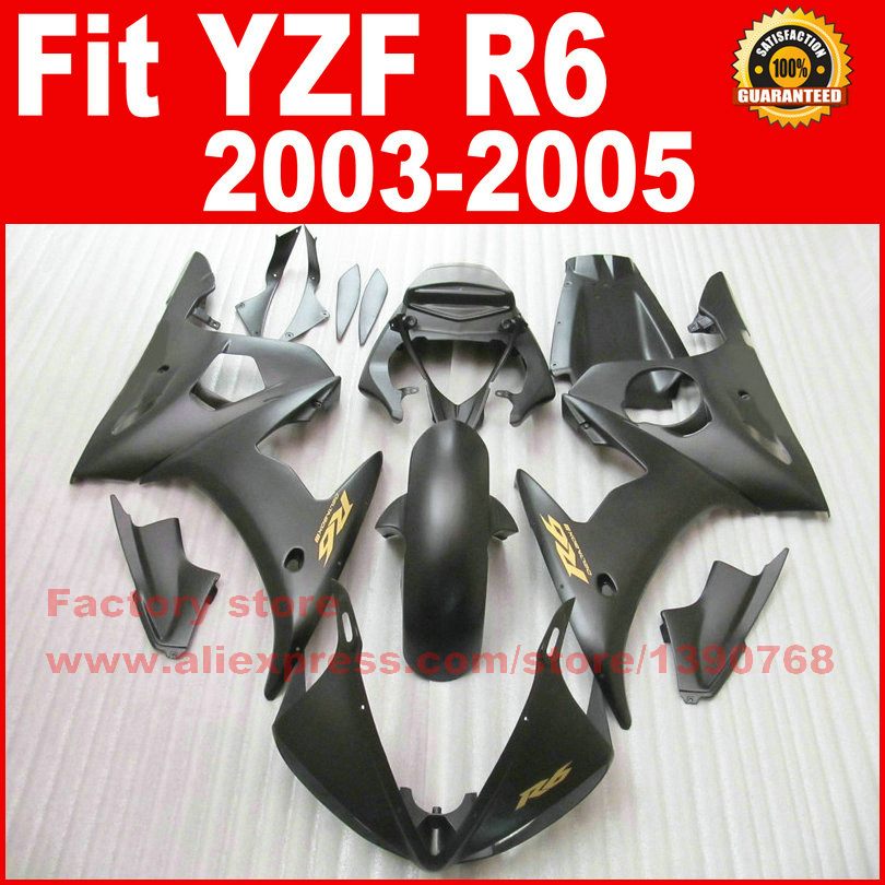 7gift ABS plastic motorcycle fairings set for YAMAHA YZF R6 2003 2004 2005 YZFR6 03 04 05 matte black fairing kits bodywork part abs plastic fairings for bodywork kawasaki zx10r 04 05 popular light green 2004 2005 zx10 fairing kits gt76