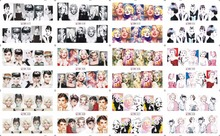 on sale !! 1 Lot=10sheets 12 in one sheet  Nail Art Water Sticker Marilyn Monroe and Audrey Hepburn 2016 for BN025-036