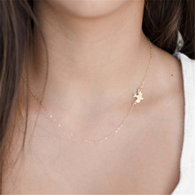 Hot Fashion Simple Style Golden Clavicle Chains Women Fashion Jewelry Peace Dove pendant