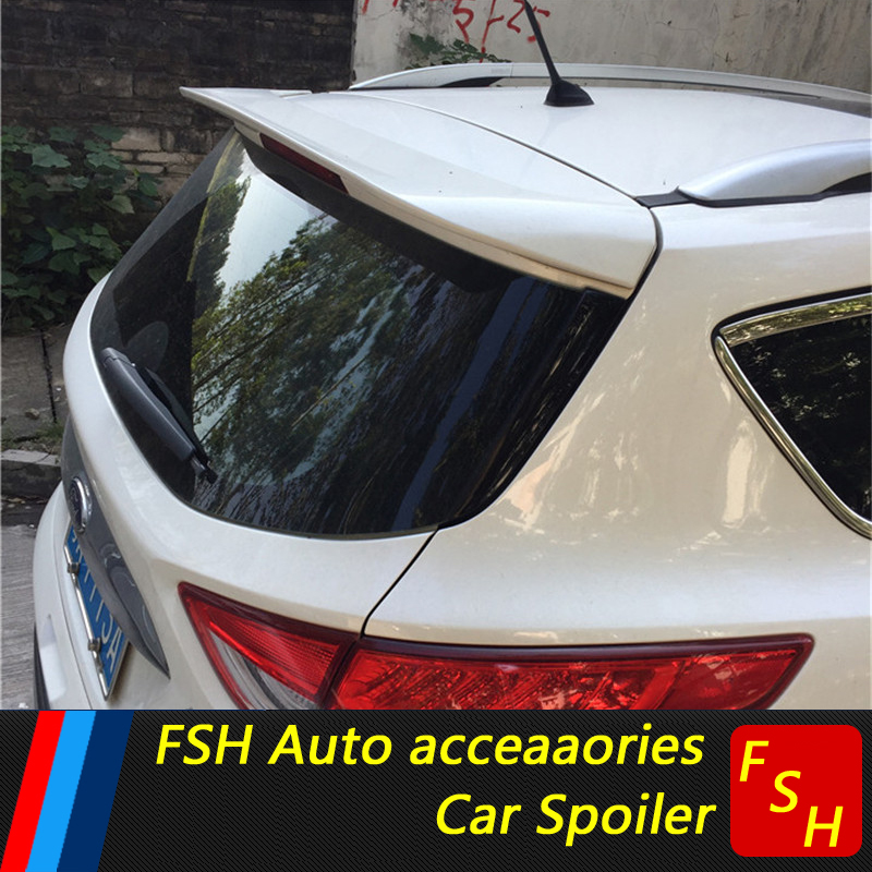 use for ford Escape Kuga Spoiler 2013-2018 ford Escape Kuga Spoiler High Quality ABS Material Car Rear Wing Primer 2013-2018