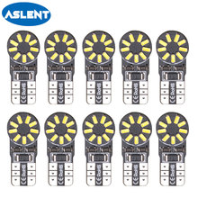 Aslent 10X T10 W5W Led Car Light Bulbs 6000K Canbus Error Free Clearance Break Lights Turn Signal Reading Decoding