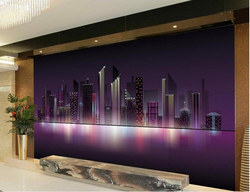 US $13.5 55% OFF|3d mural tapete wohnzimmer tv hintergrund schlafzimmer 3d  fototapete stadt himmel tv hintergrund 3d wallpaper-in Tapeten aus ...