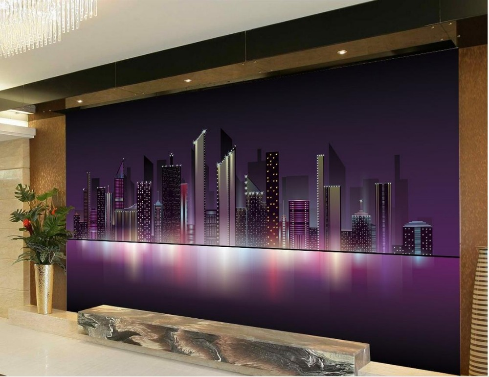 3d Mural Wallpaper Living Room TV Backdrop Bedroom 3d Photo Wallpaper City  Sky TV Backdrop 3d Wallpaper  In Wallpapers From Home Improvement On ...