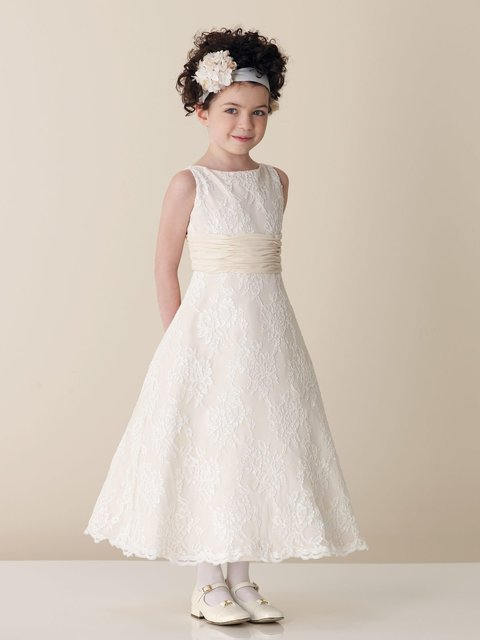 2010 new style beauty ivory color lace organza embroidery sleeveless flower girl dress ,flower dresses BZ0820002