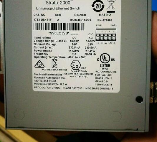 New and original PLC Stratix 1783-US4T1F new original dvp48eh00t2 delta plc