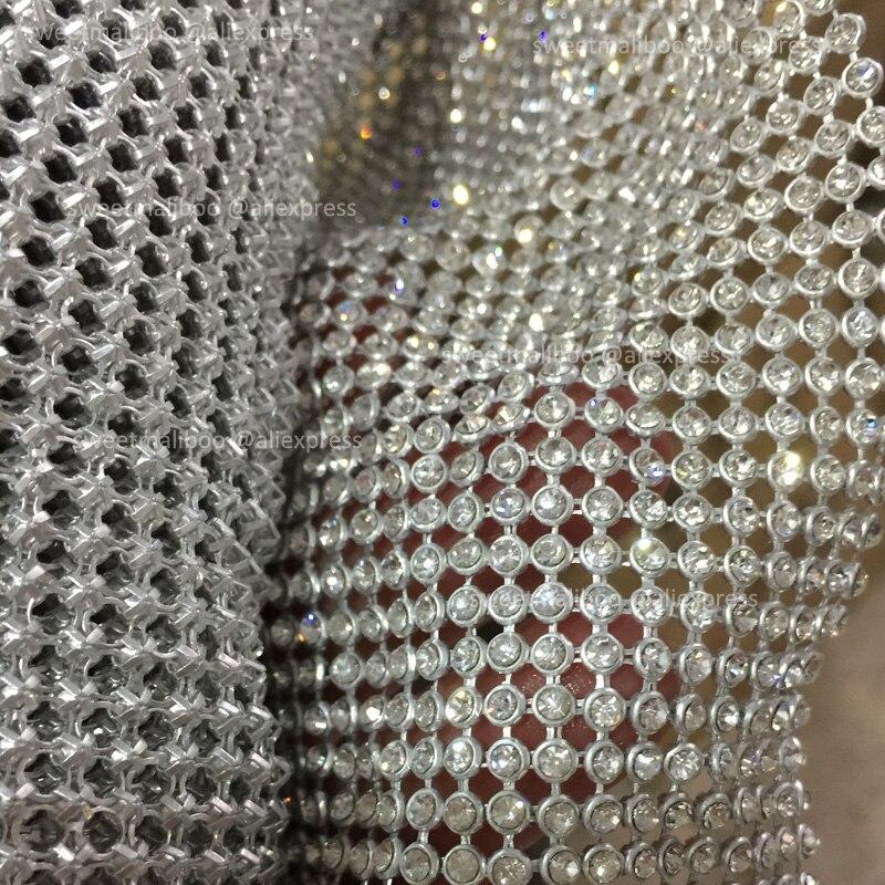 120 cm * 45 cm silber Strass metallic tuch Kristall metall mesh pailletten rollen kendal jenner kleid stoff Cosplay bekleidung vorhänge-in Stoff aus Heim und Garten bei  Gruppe 3