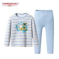 Boys Girls Pyjamas Enfant Cartoon Print Tuzki Pajamas Set Child Cotton Nightwear Long Sleeve T Shirt + Pants Kids Sleepwear