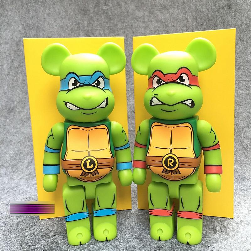 Medicom Be@rbrick Cosplay Ninja Turtle PVC 400/% Action Figure Toys Bearbrick Hot
