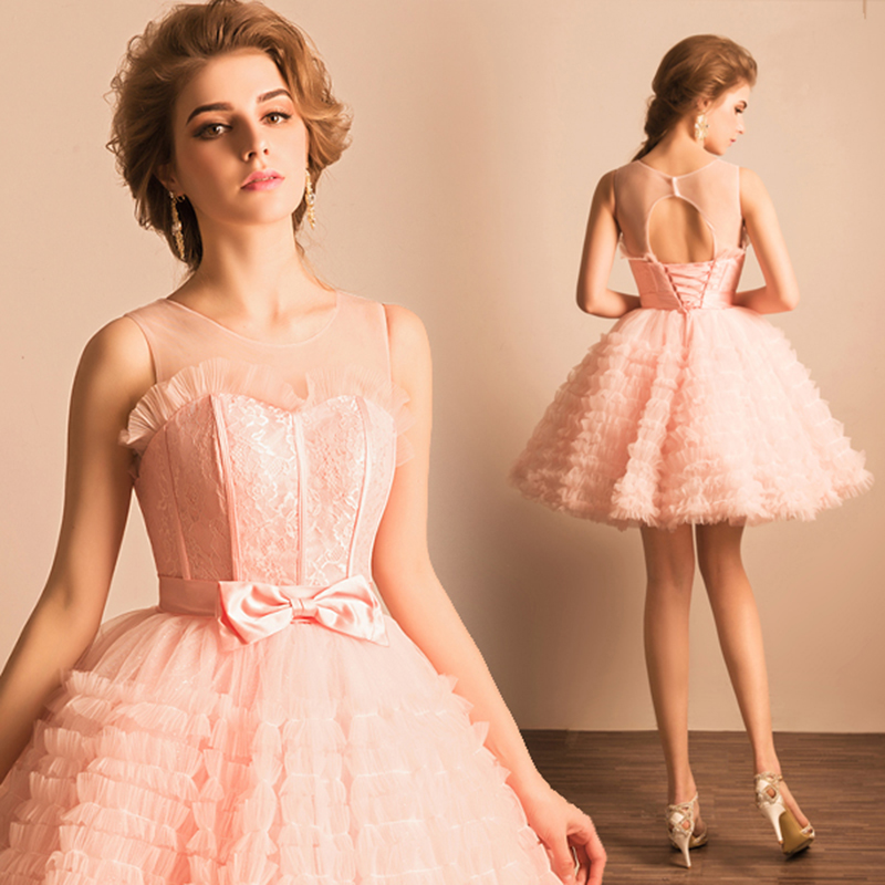 Aliexpress.com : Buy Sexy short lace cocktail dress Wavy Tiered ...