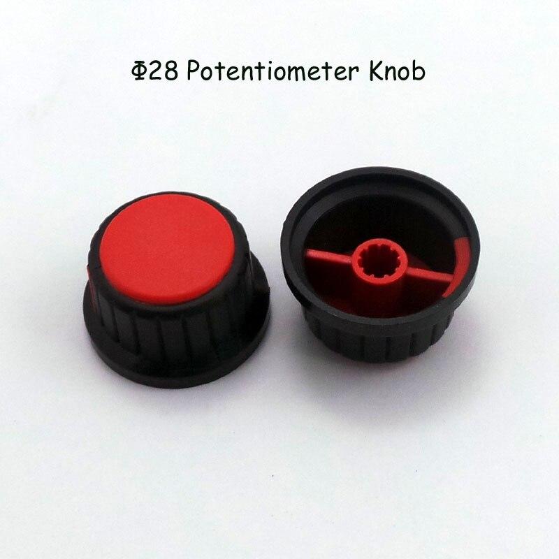 Оптовая продажа 6 мм вал сливы ось Пластик ручки переключателя, ручку потенциометра, Пластик сдвиг Бесплатная доставка