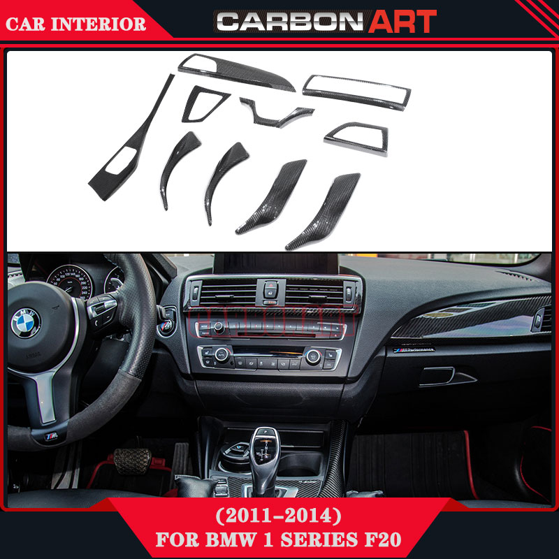 Carbon Interior For BMW 1 series F20 F21 2 series F22 Car Styling Trims Decorations Auto Accessories Carbon Fiber 2011+ f20 carbon fiber replace car mirror cover cap trim for bmw f20 auto styling 2012 2014