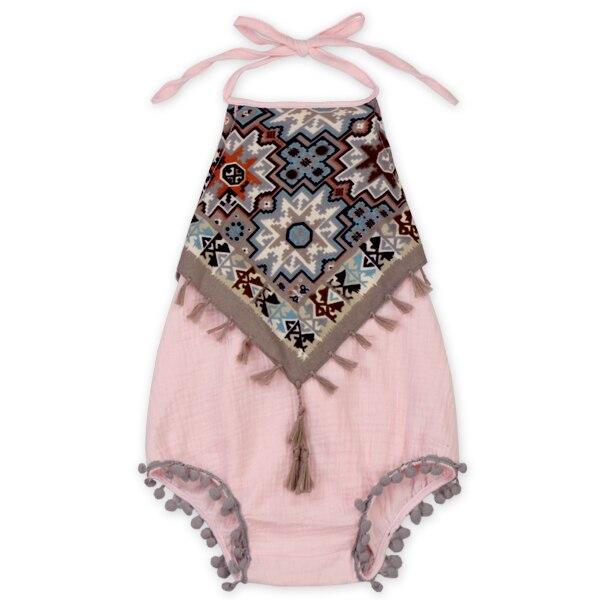 Infant Baby Girl Floral   Romper   Jumpsuit Outfit Sunsuit Playsuit Children Toddler Girls Summer Flower Vintage   Rompers   for kids