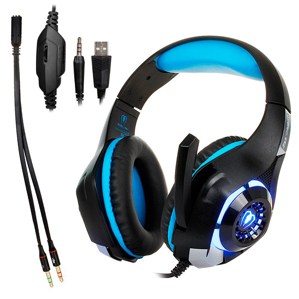 3.5mm Gaming Headphone stereo Gamer PC Ear phones computer Game Headset with microphone  ...