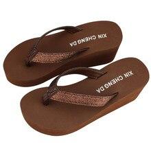 fc38d3e0af54e5 2018 Fashion Women Platform Flip Flops Thong Wedge Beach Sandals Shoes flat  sandal platform sandals summer