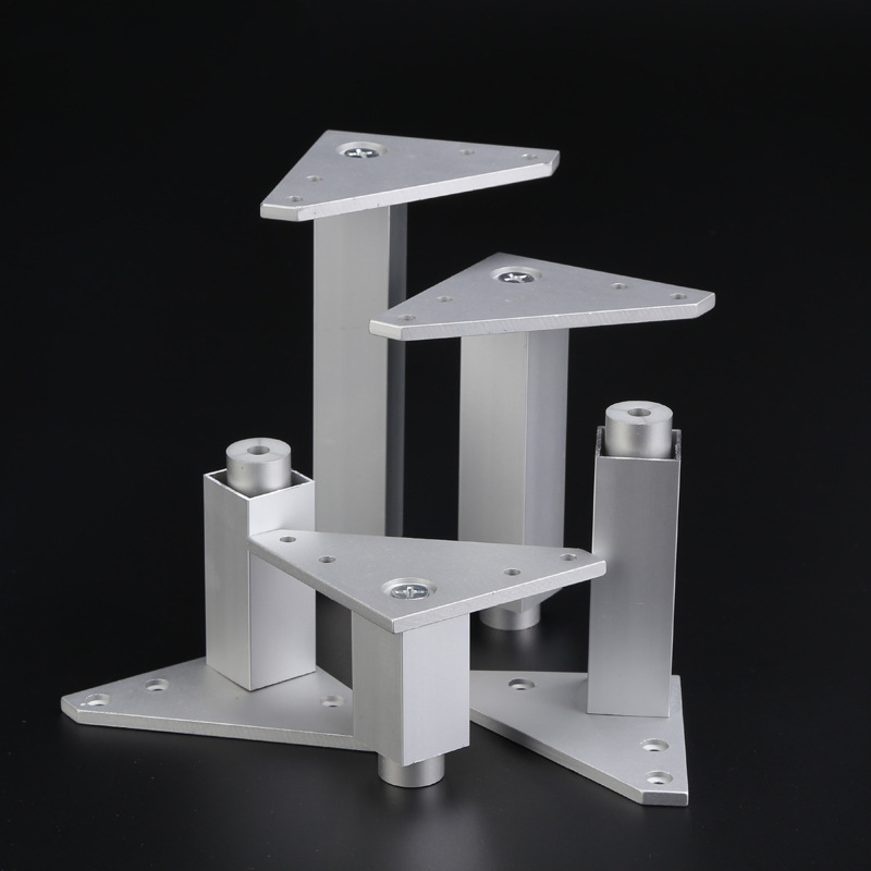 25mm Square Adjustable Cabinet Feet Space Aluminum Furniture Legs Cupboard Table Couch Dresser Armchair Feet High Value