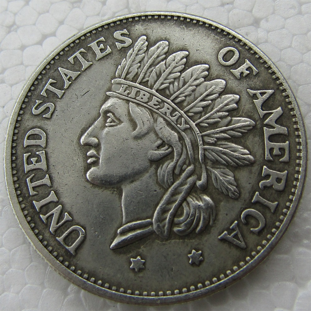 US $1 73 25% OFF|US 1851 Indian Head Silver Dollar Copy Coin-in  Non-currency Coins from Home & Garden on Aliexpress com | Alibaba Group