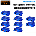 Preço com desconto 10 Unidade ArtNet-DMX4/8 Controlador de Luz Do Estágio DMX Conversor Internet 4 Fêmea de 3 Pinos XLR Connector Art-Net, UDP, TCP