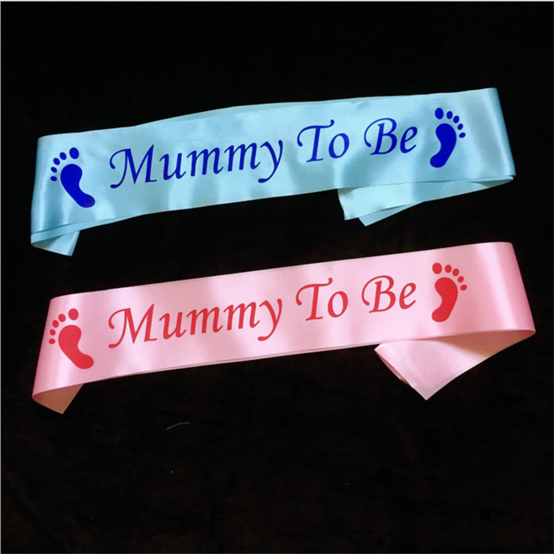 1Pcs Blue Pink Mommy To Be Sash Birthday Party Decorations Kids Baby Shower Newborn
