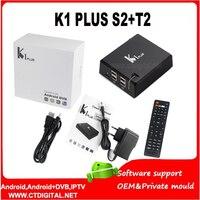 K1 artı s2 t2 dvb-t2 android 4 k uydu alıcısı vs v8 melek DVB-T2 DVB-S2 ile Amlogic S905 Quad core 1G/8G 4 k android 5.1