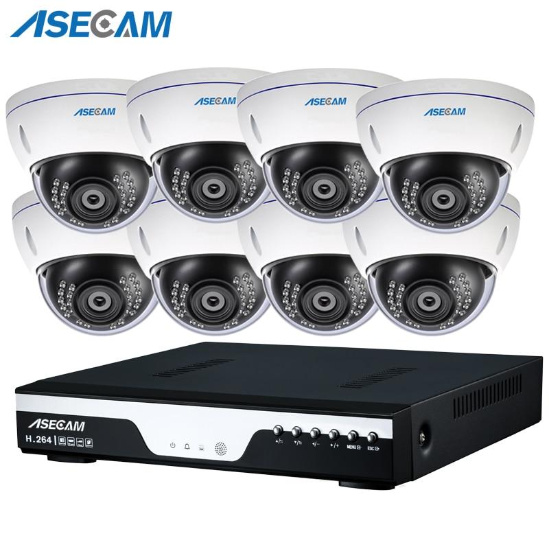 NVR 48V POE 1080P CCTV System 2MP HD Network Vandalproof Anti vandal Indoor Dome Motion Detection