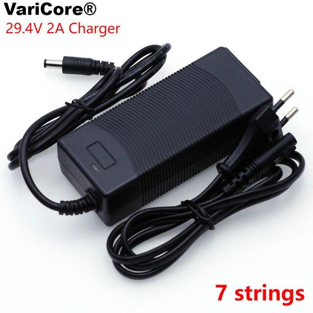 VariCore 12 V 24 V 36 V 48 V 3 סדרת 6 סדרת 7 סדרת 10 סדרת 13 מיתרי 18650 סוללת ליתיום מטען 12.6 V 29.4 V DC 5.5*2.1mm
