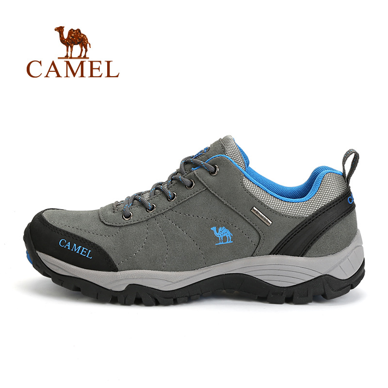 купить CAMEL 2018 New Quality Outdoor Breathable Antiskid Hiking Shoes For Men Suede Leather Lace-up Mountain Climbing Trekking Sneaker по цене 4587.53 рублей