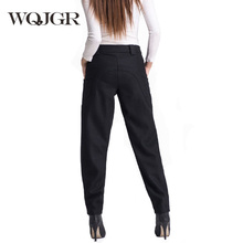 WQJGR 2019 News Winter Wool Pants Haren Woman Long Women