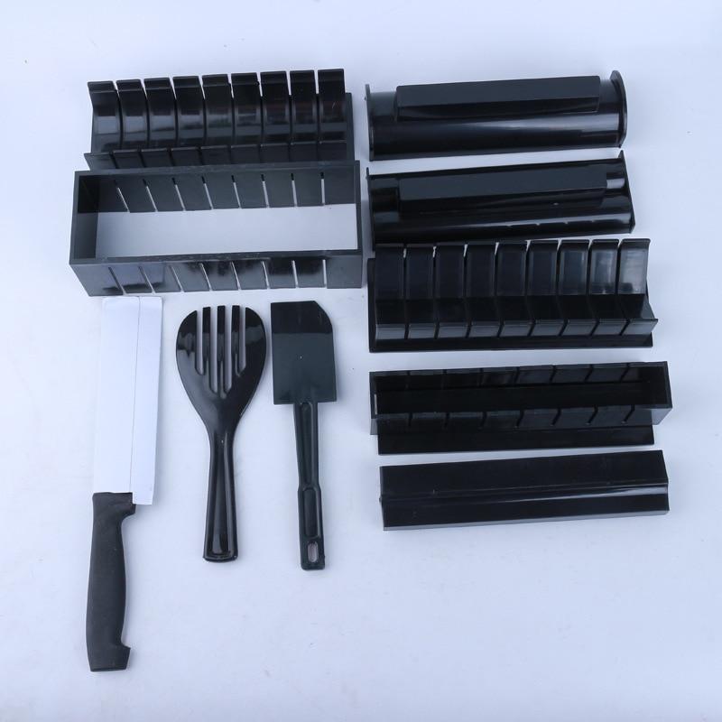 New DIY Sushi Maker Rice Mold Kitchen Sushi Making Tool Set 10 pcs High Quality Dropshipping