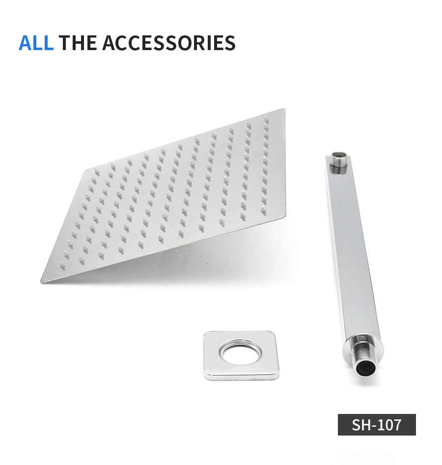 stainless steel Replacement shower head square or round 4 inch 6//8//10//12 inch.