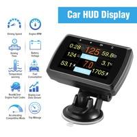 HUD Head Up Display A501 OBD2 On board Computer For Car Fuel Consumption Temperature Meter Speedometer OBD 2 HUD Display