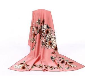 Image 4 - 100% シルクフラワースカーフソフトブランドスカーフパシュミナ高品質