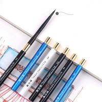 Aquarela escova de cabelo animal apontado cabeça redonda caneta de viagem esboço gouache escova arte profissional pintura adulto gancho linha caneta Pincéis de pintura     -