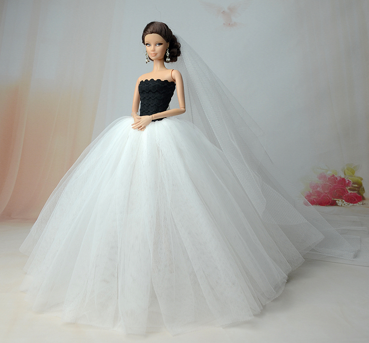NK-Doll-Dress-High-quality-Handmade-Long-Tail-Evening-Gown-Clothes-Lace-Wedding-Dress-Veil-For-Barbie-16-Doll-Best-Gift-3