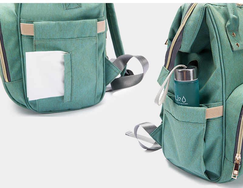 Grote Capaciteit Luiertas Rugzak Waterdichte Moederschap Bag Baby Luiertassen Met Usb Interface Mummie Reistas Voor Wandelwagen