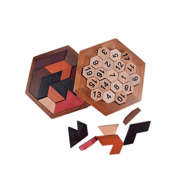 3D Wooden Intelligence Jigsaw Model Early Teaching Puzzle IQ Toys for Kids Gifts Educational Toys