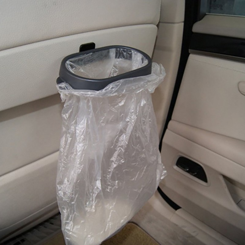 Newest Portable Foldable Car Trash Bin Frame Auto Rubbish Storage Durable Bucket Accessories Car Clips