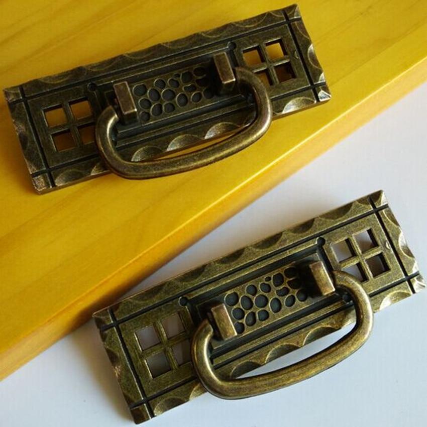 82mm rustico vintage furniture shaky handles bronze drawer cabinet pulls knobs antique brass dresser cupboard door handles