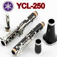 High quality Clarinet YCL 250 Professional 17 Key Bb Klarinet Bakelite Nickel Plated Klarnet font b