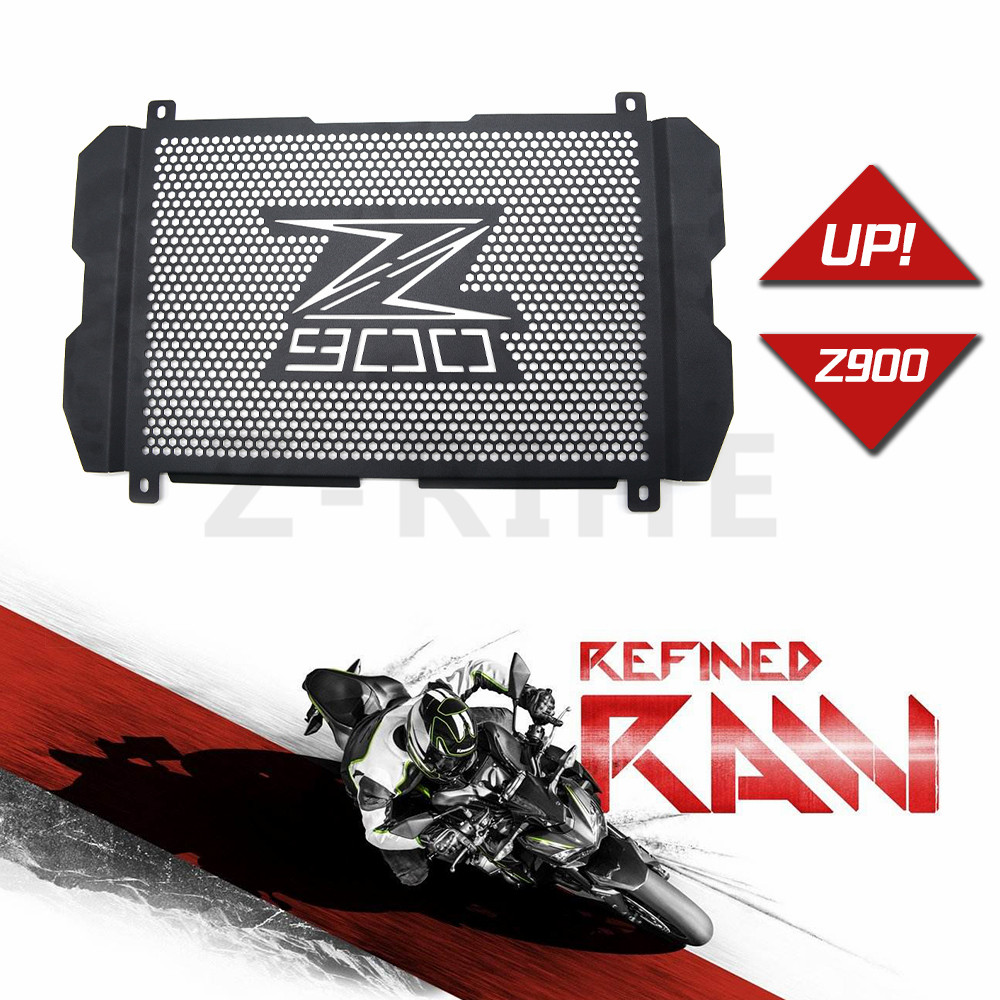 z 900 for New Motorcycle Stainless Steel Radiator Grille Guard Protection For Kawasaki Z900 Z 900 2017 radiator protective cover for kawasaki z900 2017 motorcycle radiator guard gloss stainless steel grille bezel radiator net protective cover