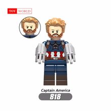 Single Sell Marvel Superhero Avenger 3 Captain America Winter Soldier Hulk Children Legoing Building blocks Toy Figures(China)