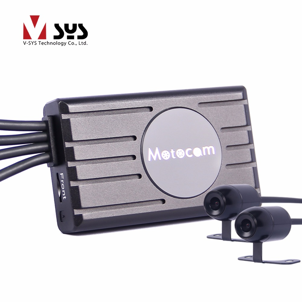 2017 latest X2 dual FHD high end motorcycle camera dvr for front and rear view