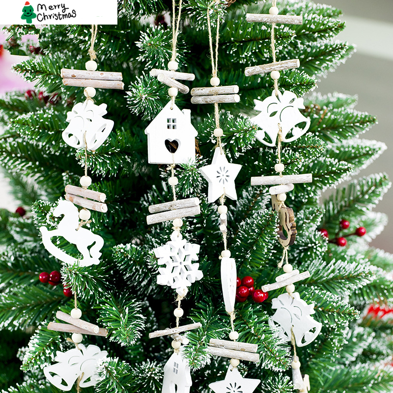 Christmas Decorations 2019.Us 9 99 30 Off 2019 New 4pcs Set Wooden Star House Christmas Decoration Rustic Christmas Tree Decor Hanging Ornament New Year Decor For Home In