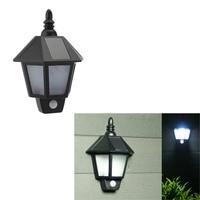 AKDSteel PIR Infrared Body Motion Sensor Solar Power Panel Outdoor LED Wall Yard Garden Light Lamp for Garden Supplies