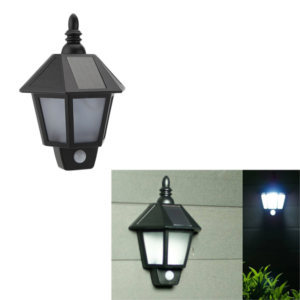 LumiParty PIR Infrared Body Motion Sensor Solar Power Panel Outdoor LED Wall Yard Garden Light Lamp for Garden Supplies