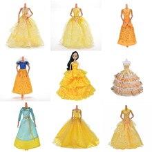 db9f715fcfb9c Jaune robe de mariage Princesse de Soirée Parti Long Ball Robe Jupe voile  nuptial Costume Vêtements