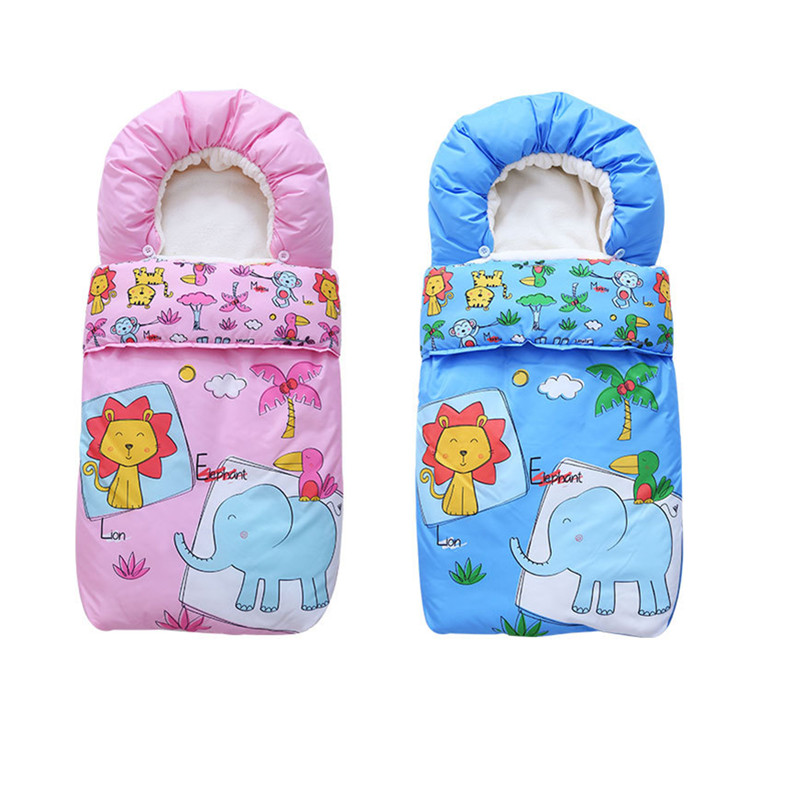 New Baby Stroller Footmuff Carseat Sleeping Bag Autumn Winter Solid Baby Sleep Sack Unis ...