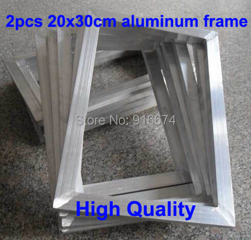 Free Shipping CHEAP 2pcs Silk Screen Printing Aluminum frame outside size 20x30CMFree Shipping CHEAP 2pcs Silk Screen Printing Aluminum frame outside size 20x30CM