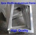 Frete Grátis BARATO 2 pcs de Alumínio Da Impressão Da Tela de Seda quadro tamanho exterior 20x30 CM