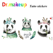 D Tattoo Stickers Colorful Waterproof Safe Animal Figure Dreamcatcher Body Art Painting Makeup Accessories