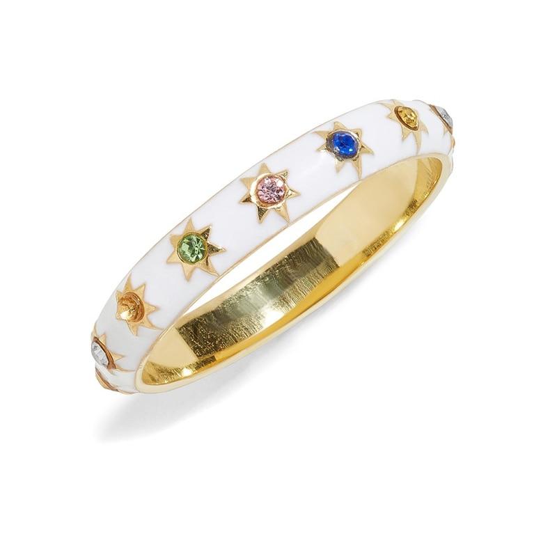 Birthstone ring für mädchen frauen geburtstag geschenk AAA + bunte zirkonia einfache geometrische verlobung ringe
